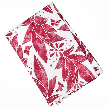 Shyness Kitchen Towel Butterfly White/Red