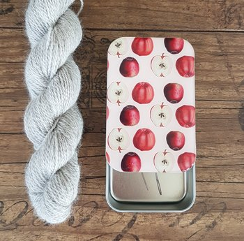 Apple storage tin large