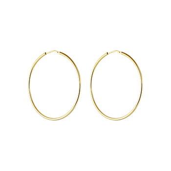 Letters hoop ear gold
