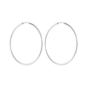 Letters big hoop ear silver