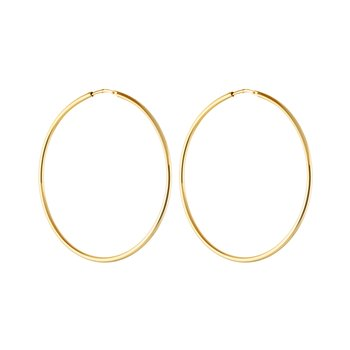 Letters big hoop ear gold