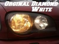 H4 DIAMOND WHITE BULBS 4200K - 60/55W- PAIR IN BOX